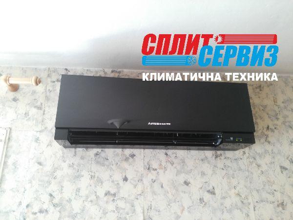 монтаж на климатик Mitsubishi Electric MSZ-EF35VE черен гланц